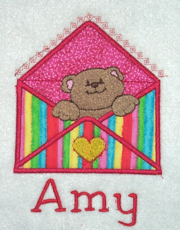 Applique Envelope Bear