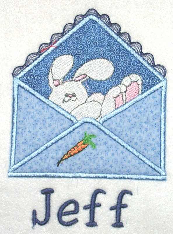 Applique Envelope Bunny