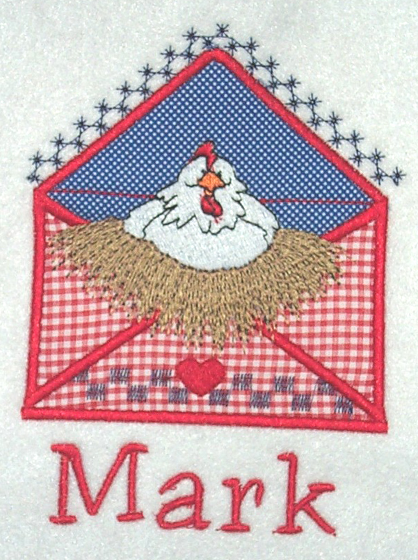 Applique Envelope Chicken