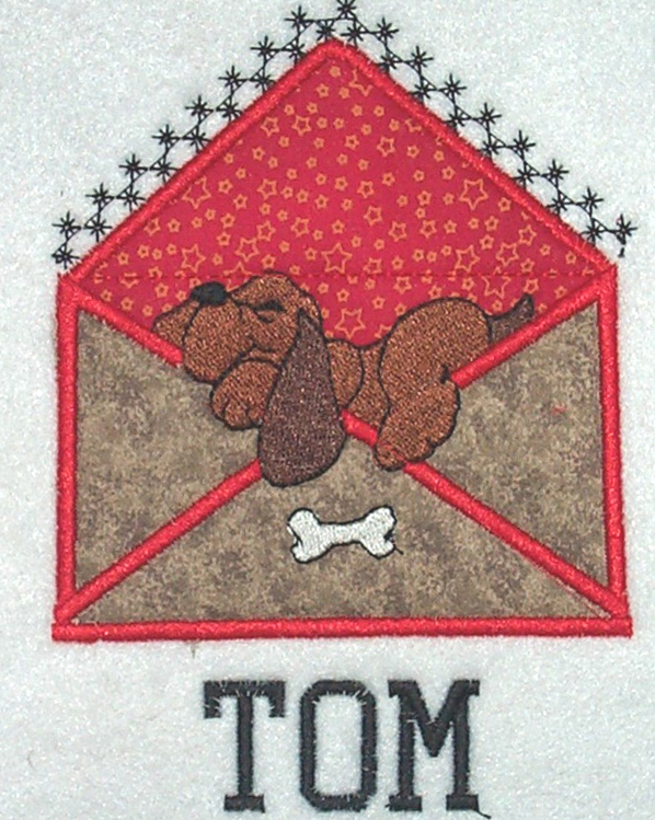 Applique Envelope Dog