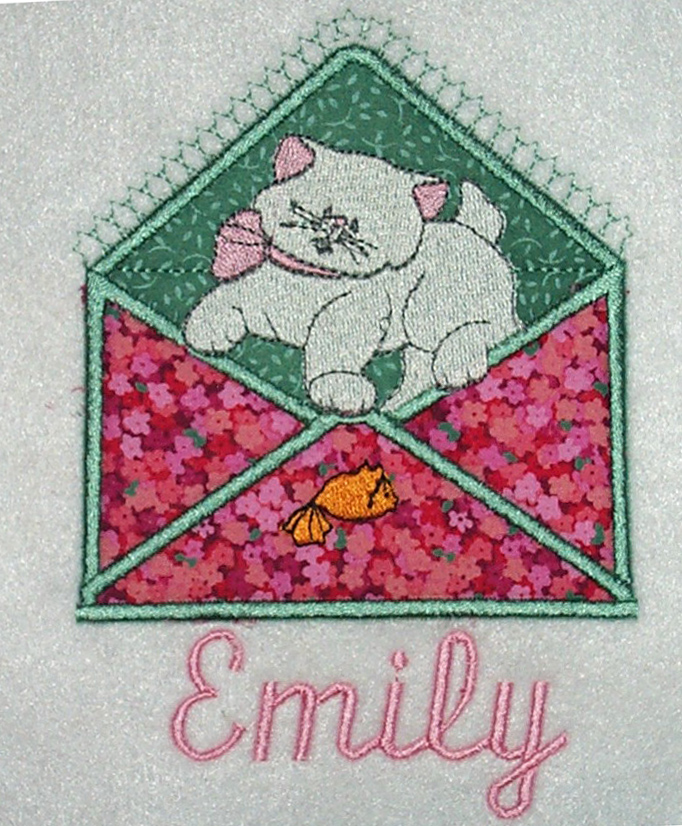 Applique Envelope Kitty