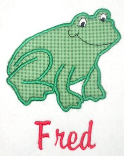 Applique Frog