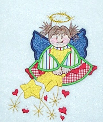 Applique Gingham Angel