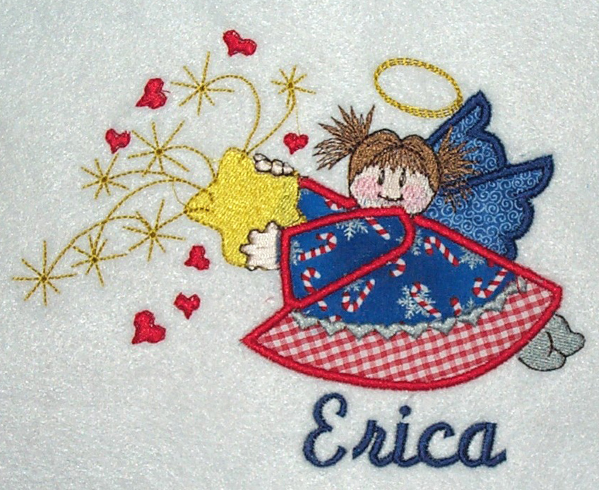 Applique Holiday Angel