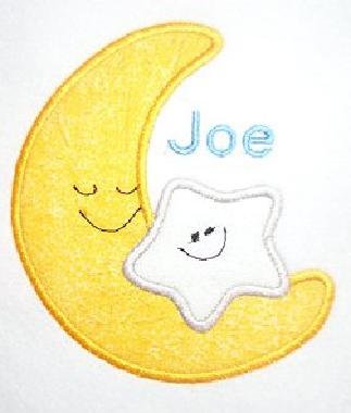 Applique Moon & Star