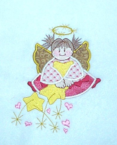 Applique Pink Angel