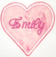Applique Pink Heart