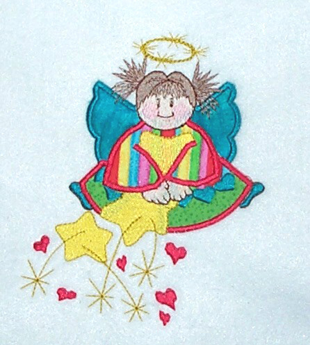 Applique Rainbow Angel