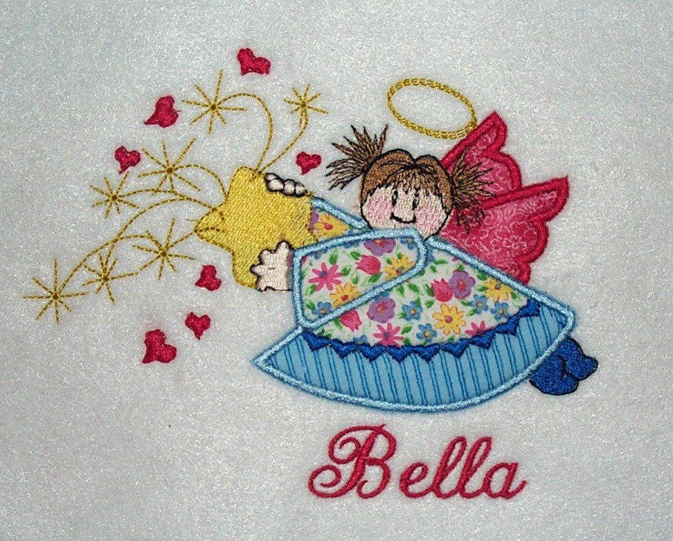 Applique Designs For Girls Initial Impressions