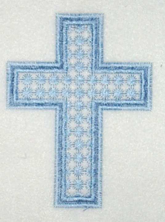 Blue Candlewick Cross