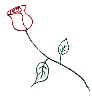 Rosebud Outline