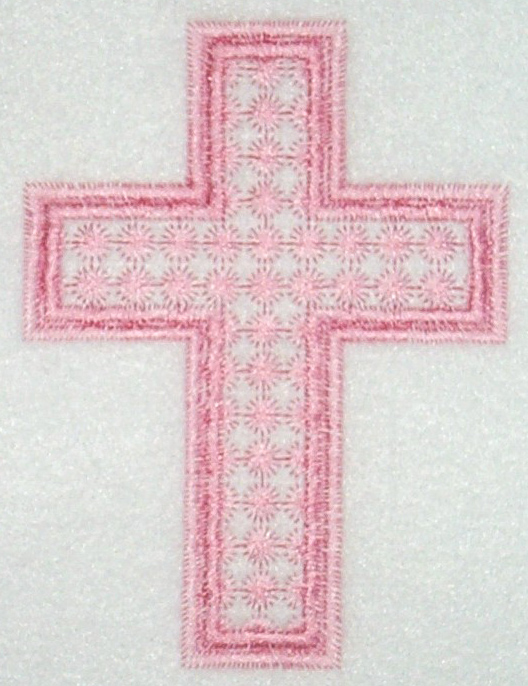 Pink Candlewick Cross