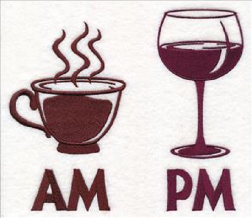 AM and PM Coffee and Wine