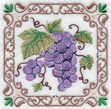 Wrought Iron Frame Grapes