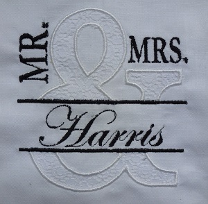 Mr and Mrs Lace Applique