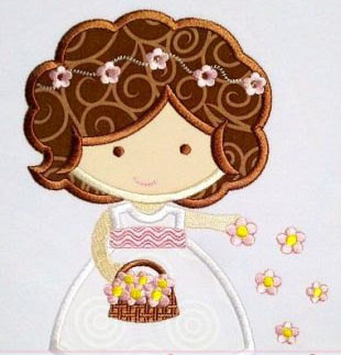 Flower Girl Applique