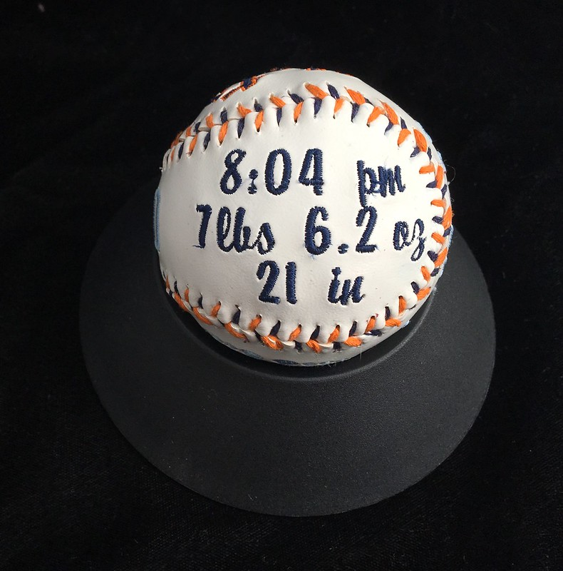 embroidered regulation baseball