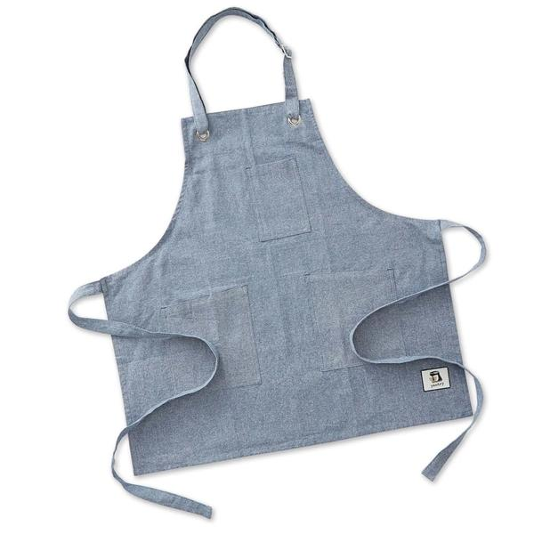 personalized pantry apron chambray