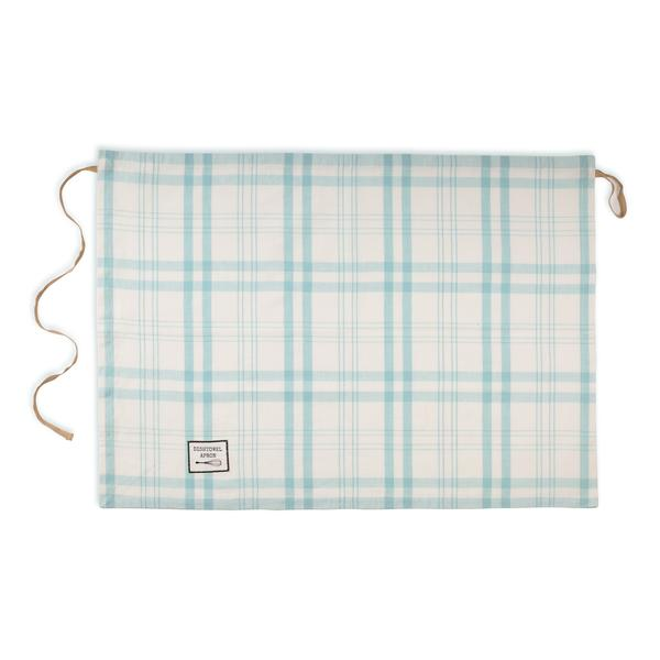 Personalized Dishtowel Apron Blue Plaid