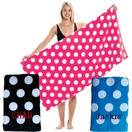 Large Polka Dot Towels