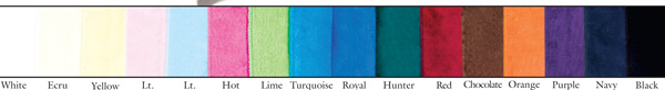 Robe fabric colors