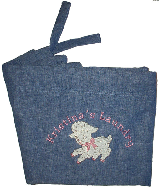 Baby Embroidered Laundry Bag