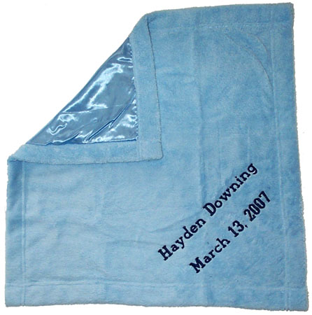 Embroidered Quot My Blankie Quot Baby Blanket Infants Security