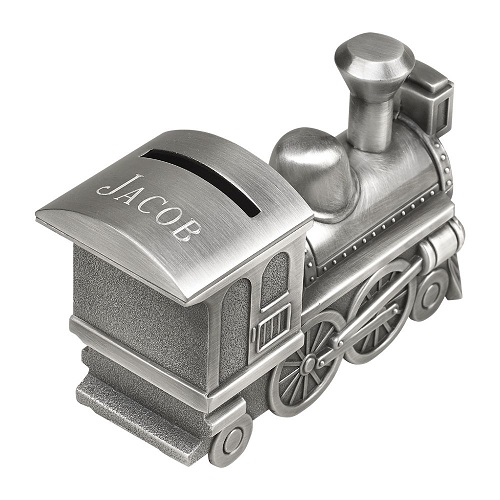 Engraved Train Bank