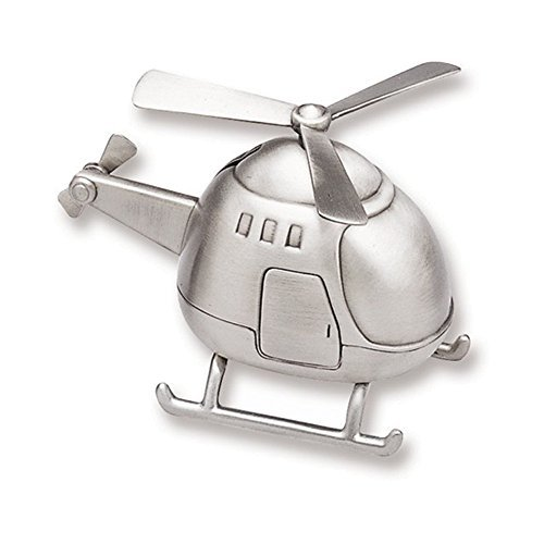 Engraved Helicopter Money Bank