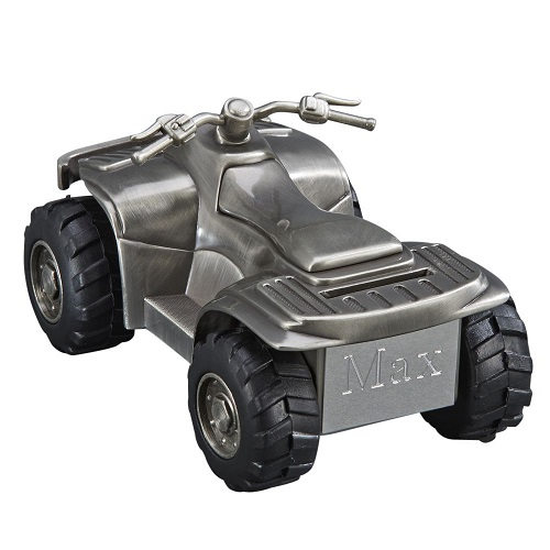 Engraved All Terrain Vehicle Money Bank