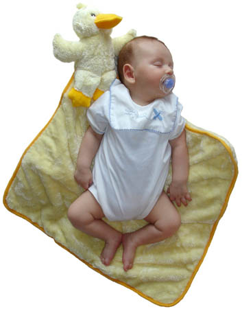 Cuddly, soft comfort for baby!