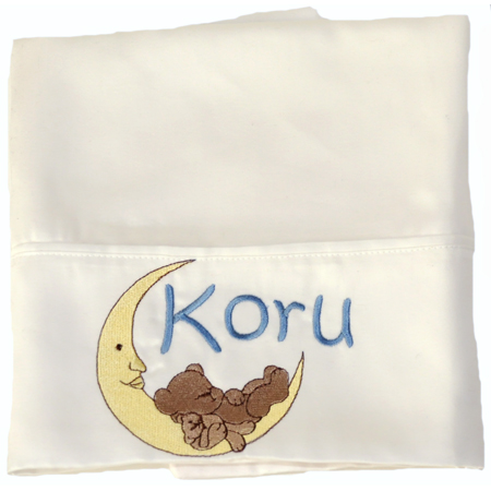 Bear and Moon Pillowcase