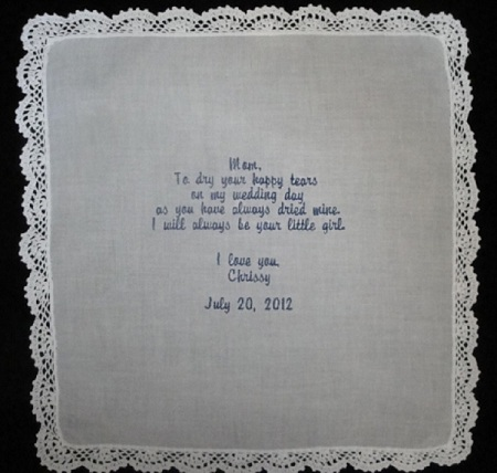 Mother of the Bride Pome Hankie