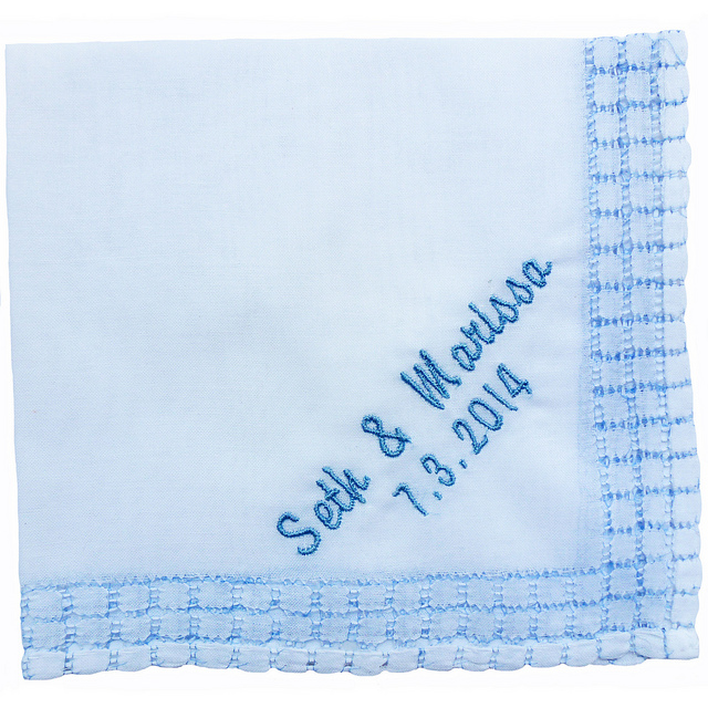 Blue Windowpane Hankie