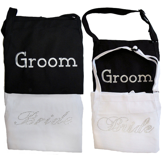 Bride and Groom Aprons