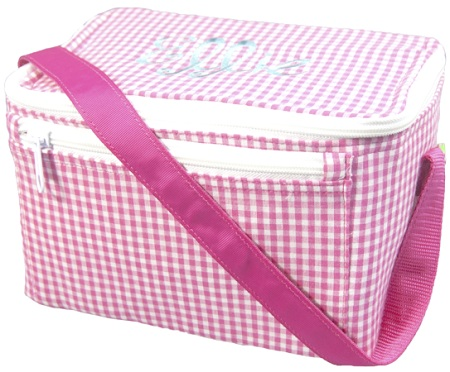 Pink Gingham Lunch Box