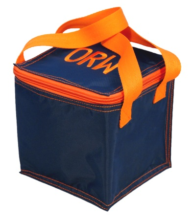 Navy/Orange Bright Snack Square