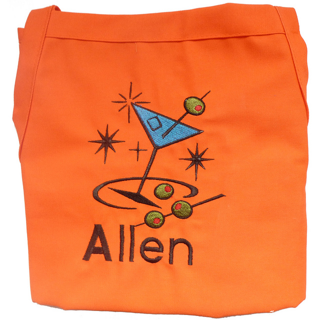 Orange Teen Chefs Apron