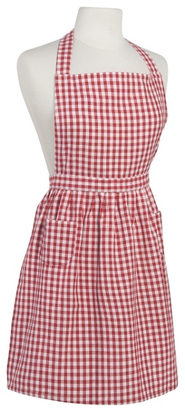 Red Gingham Classic Apron