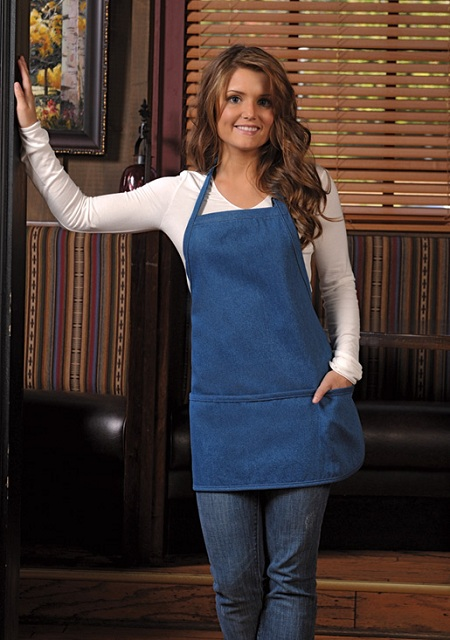 Denim Short Bib Apron