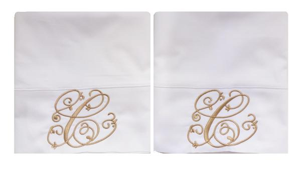 Embroidered Pillow Case Sets
