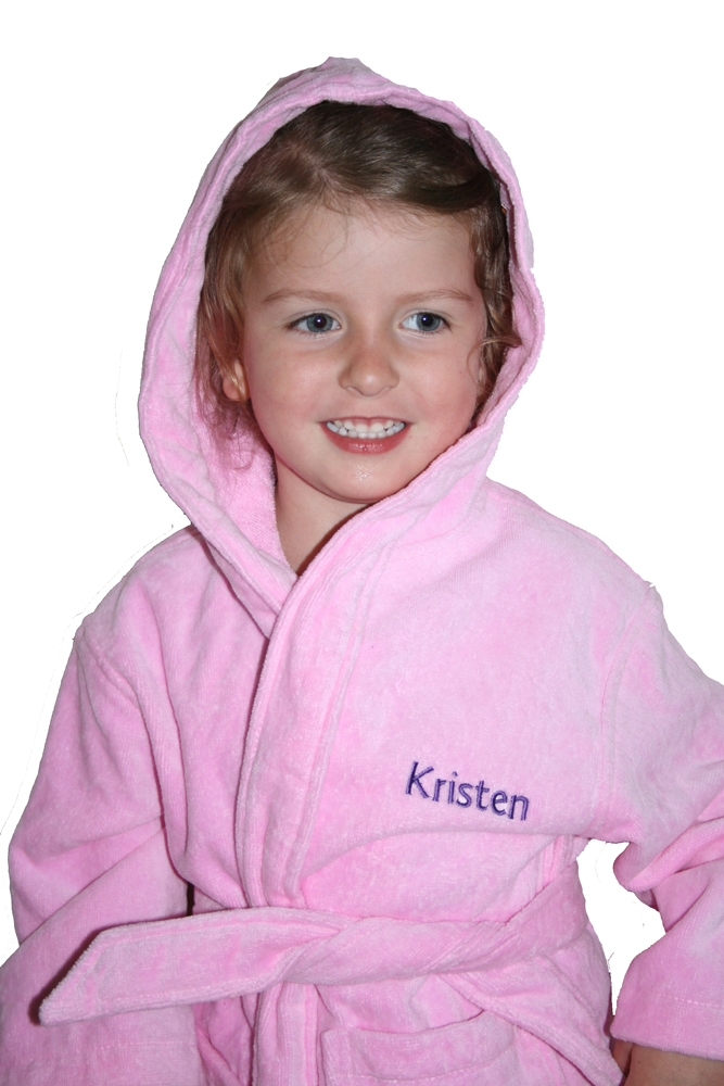 Pale Pink Deluxe Terry Bathrobe