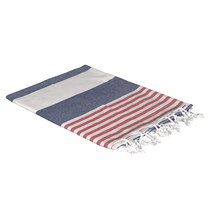 Navy/Red Turkish Boreas Style Towels