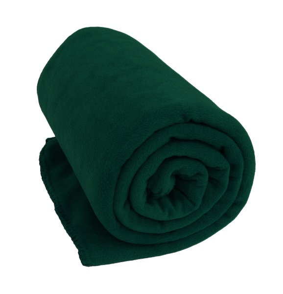 Forest Green Coral Fleece Blanket