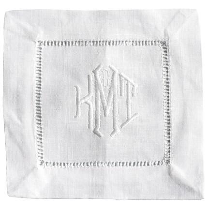 hemstitched linen napkin set