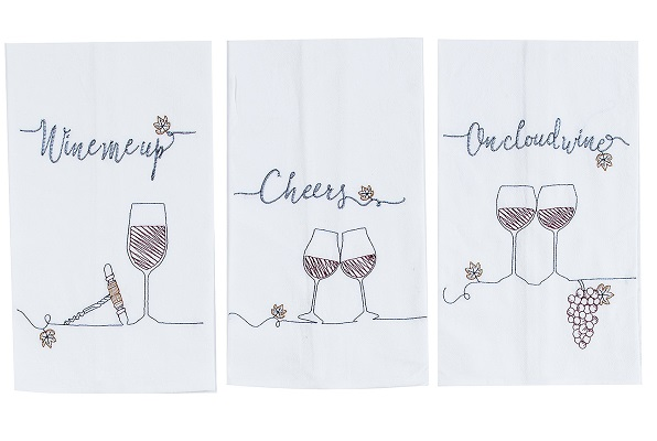 Wine Sentiments Floursack Kitchen Towels