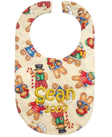Holiday Gingerbread Bib