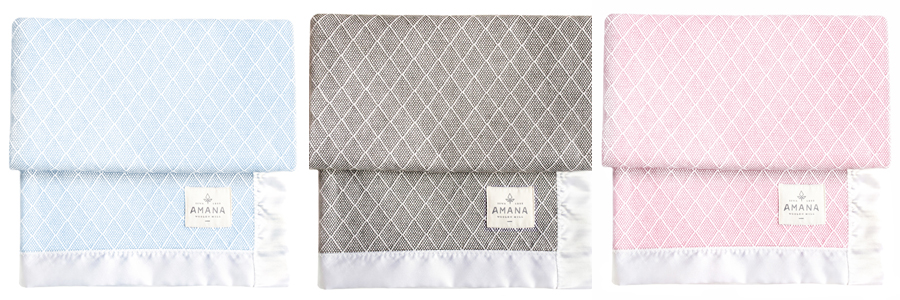 silver spoon cotton baby blanket