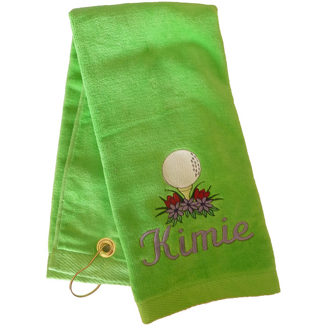 Lime Golf and Sports Towel