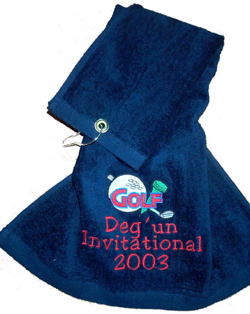 Navy Golf and Sports Towel